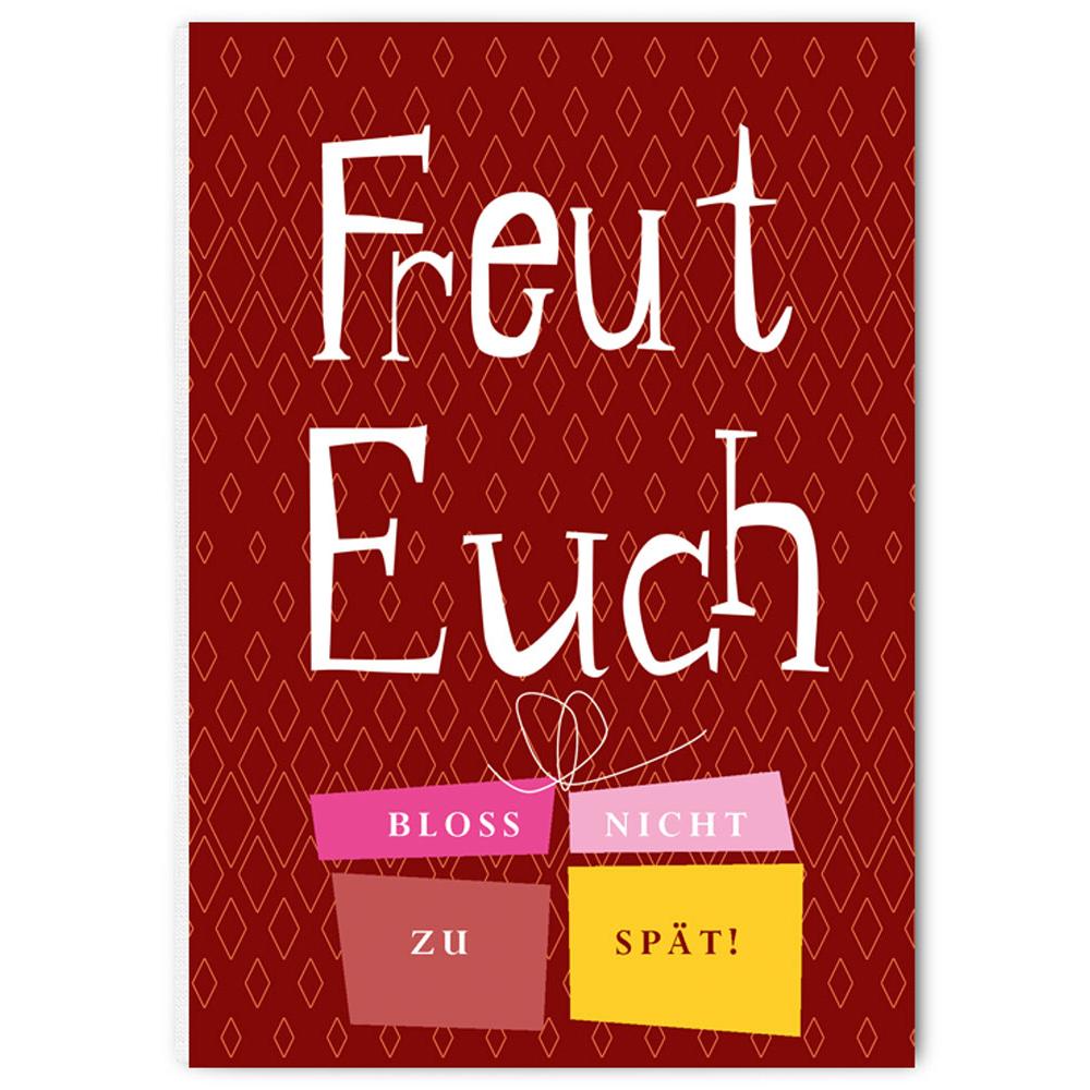 """Weihnachtspostkarte - """"Freut euch bloss nicht zu spät"""" - The Buttique"""
