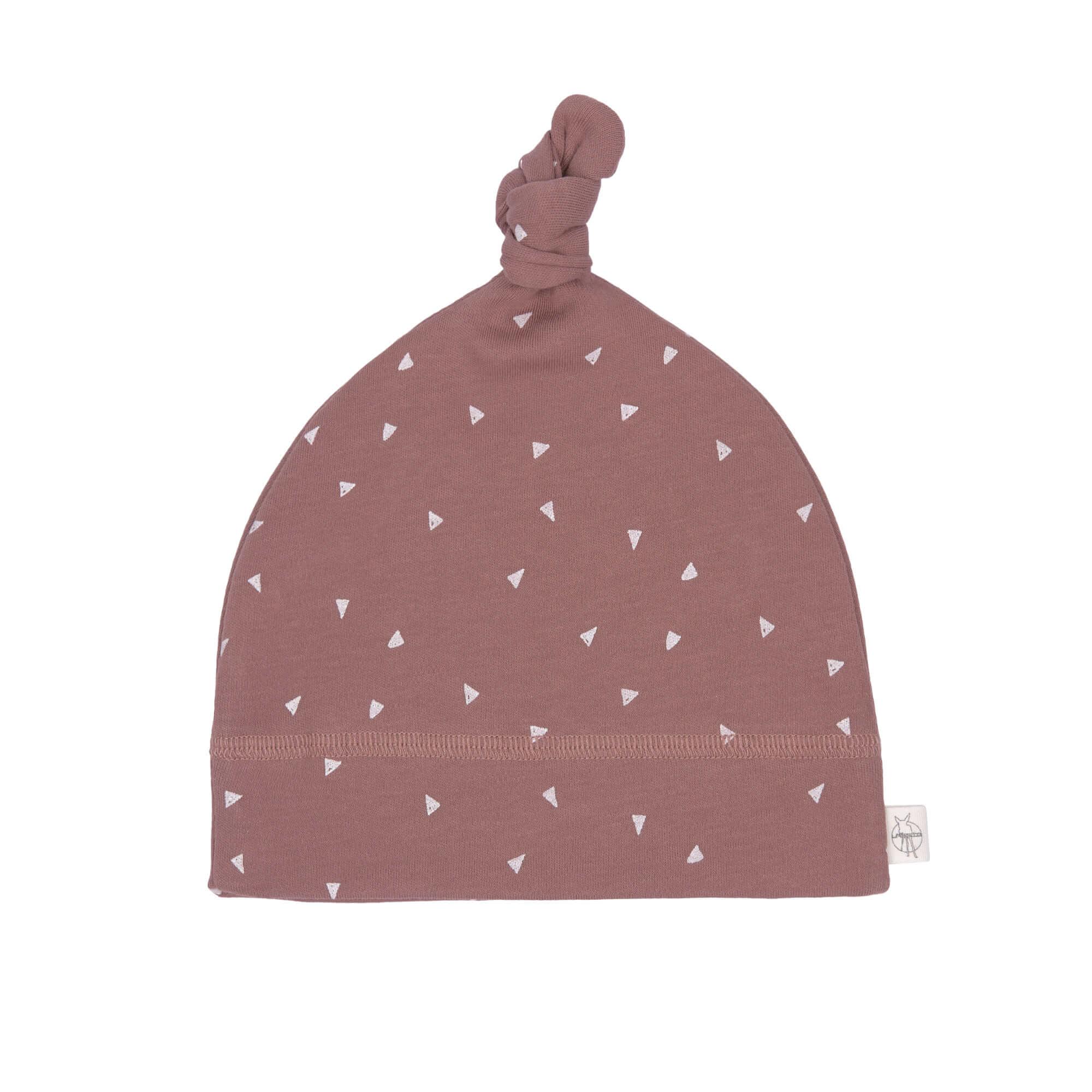 Babymütze  Beanie Triangle cinnamon - Lässig