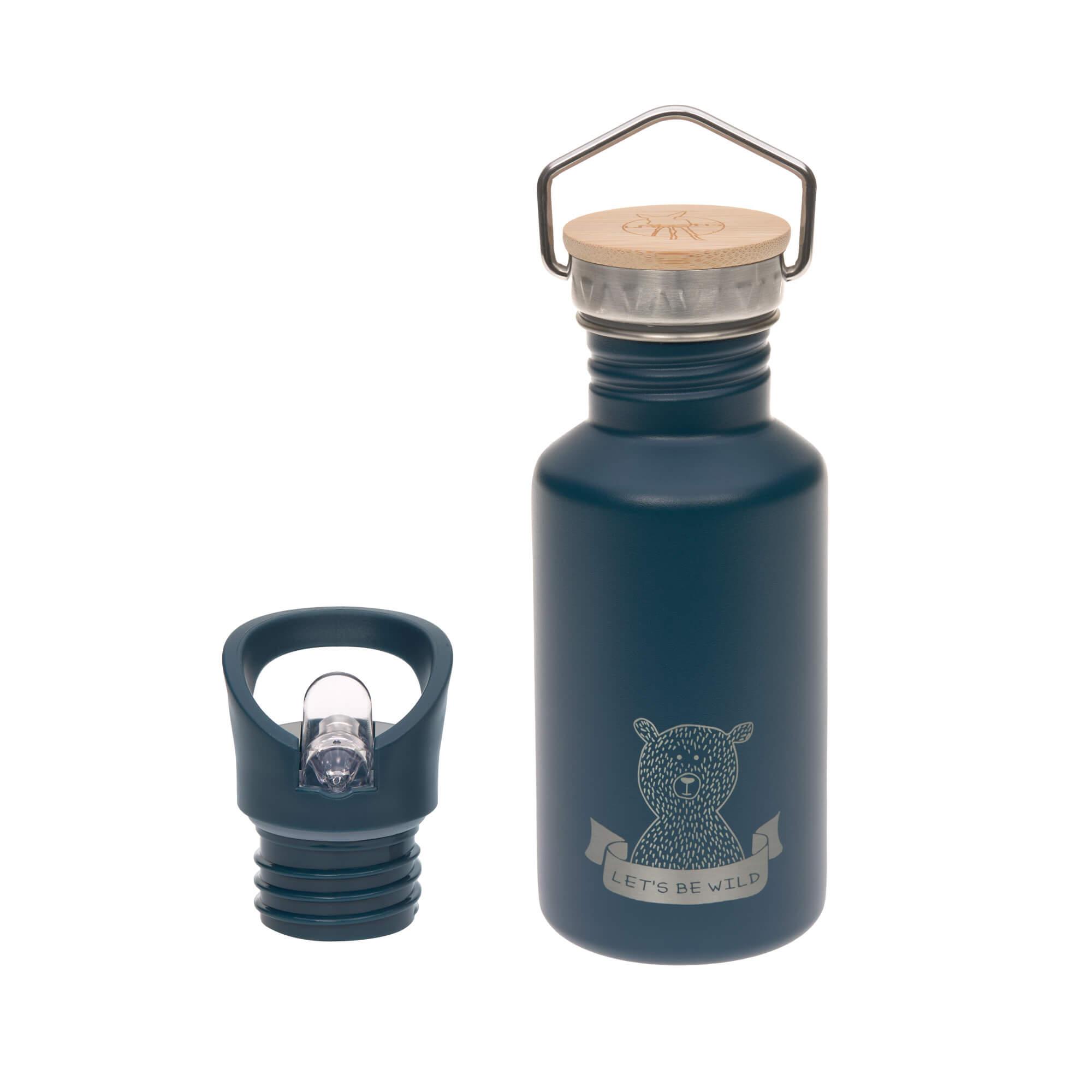 Kinder Trinkflasche Edelstahl (500ml) - Adventure blue - Lässig