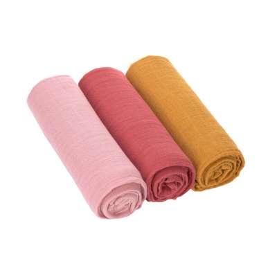 Spucktuch - rot - Swaddle & Burp Blanket L - Lässig