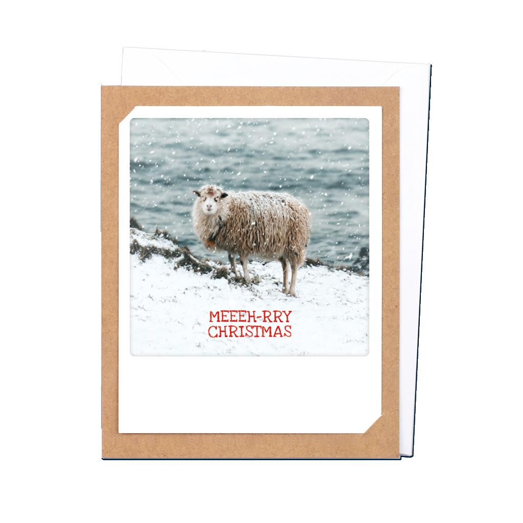"Photo-Klappkarte ""Meeh-rry christmas sheep"" - XM-0257-EN-KK - Pickmotion (Xmas)"