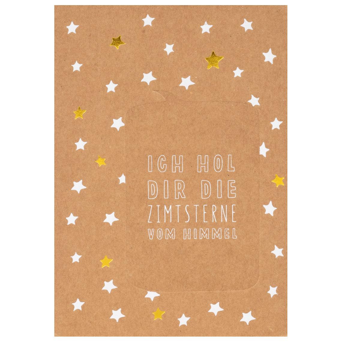 """Sprechblasenpostkarte """"Ich hol dir die Zimtsterne vom Himmel"""" - räder (Xmas)"""