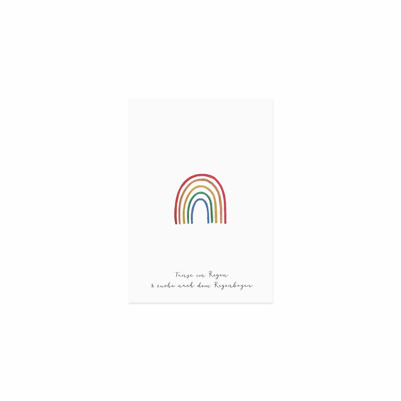 Postkarte - Regenbogen - Eulenschnitt