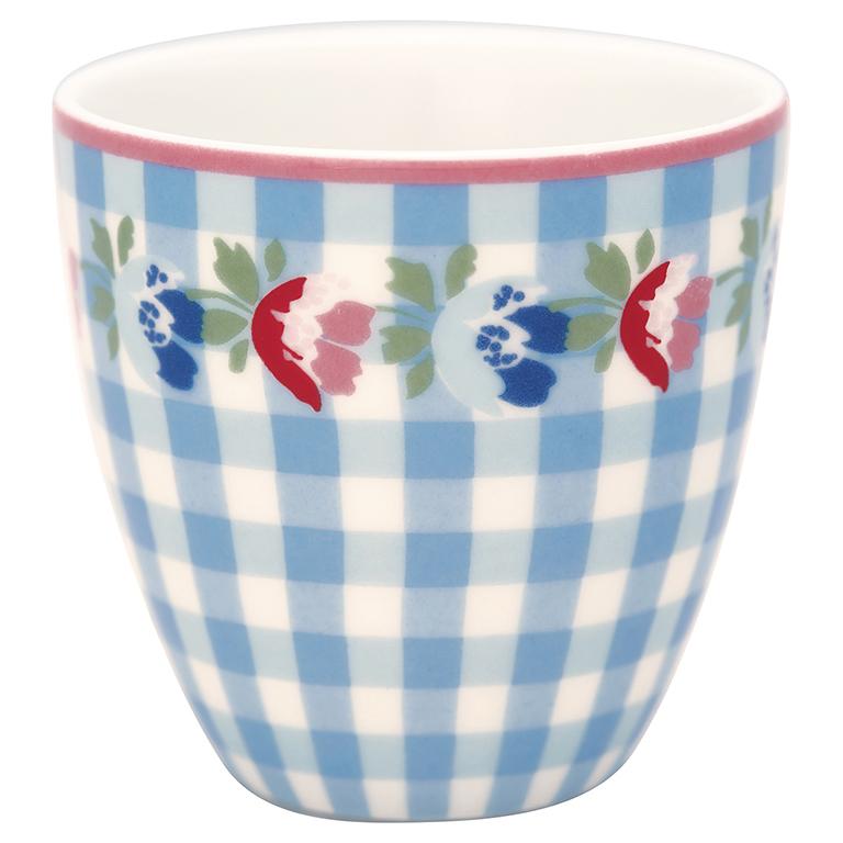 Espressotasse | Mini-Latte Cup - Viola check pale blue - Greengate