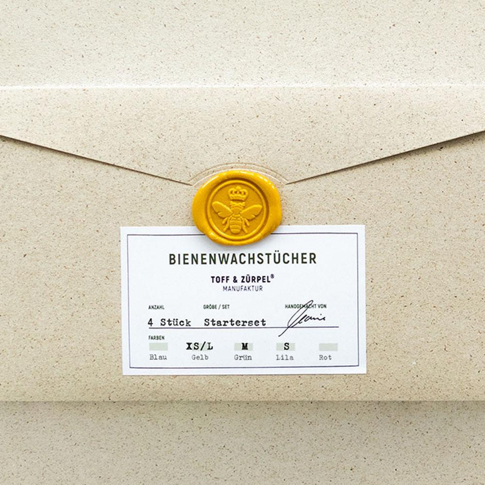 Bienenwachstuch - Large - natur - Toff & Zürpel