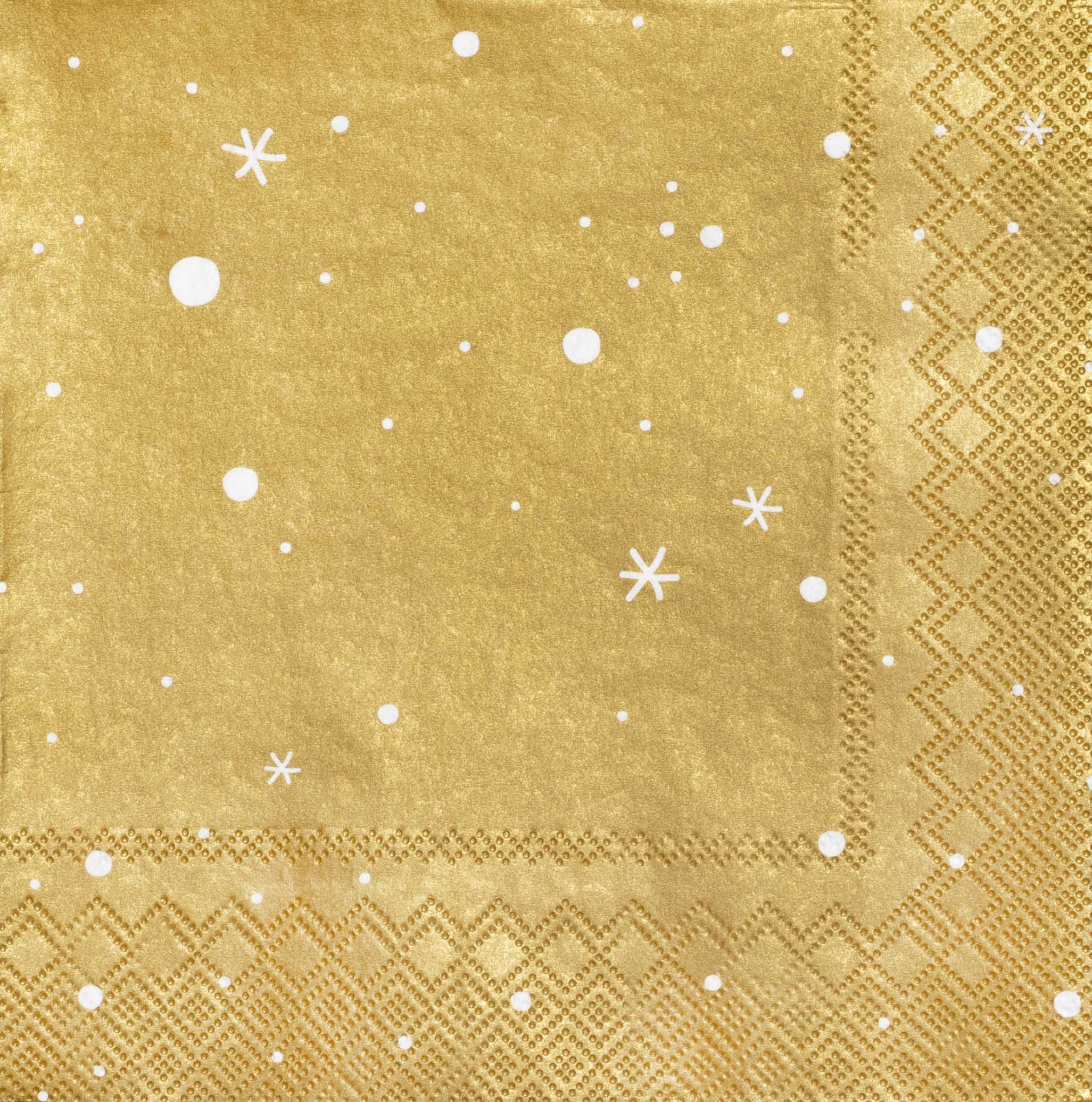 """Papierservietten """"Sterne, gold"""" - räder (Xmas)"""
