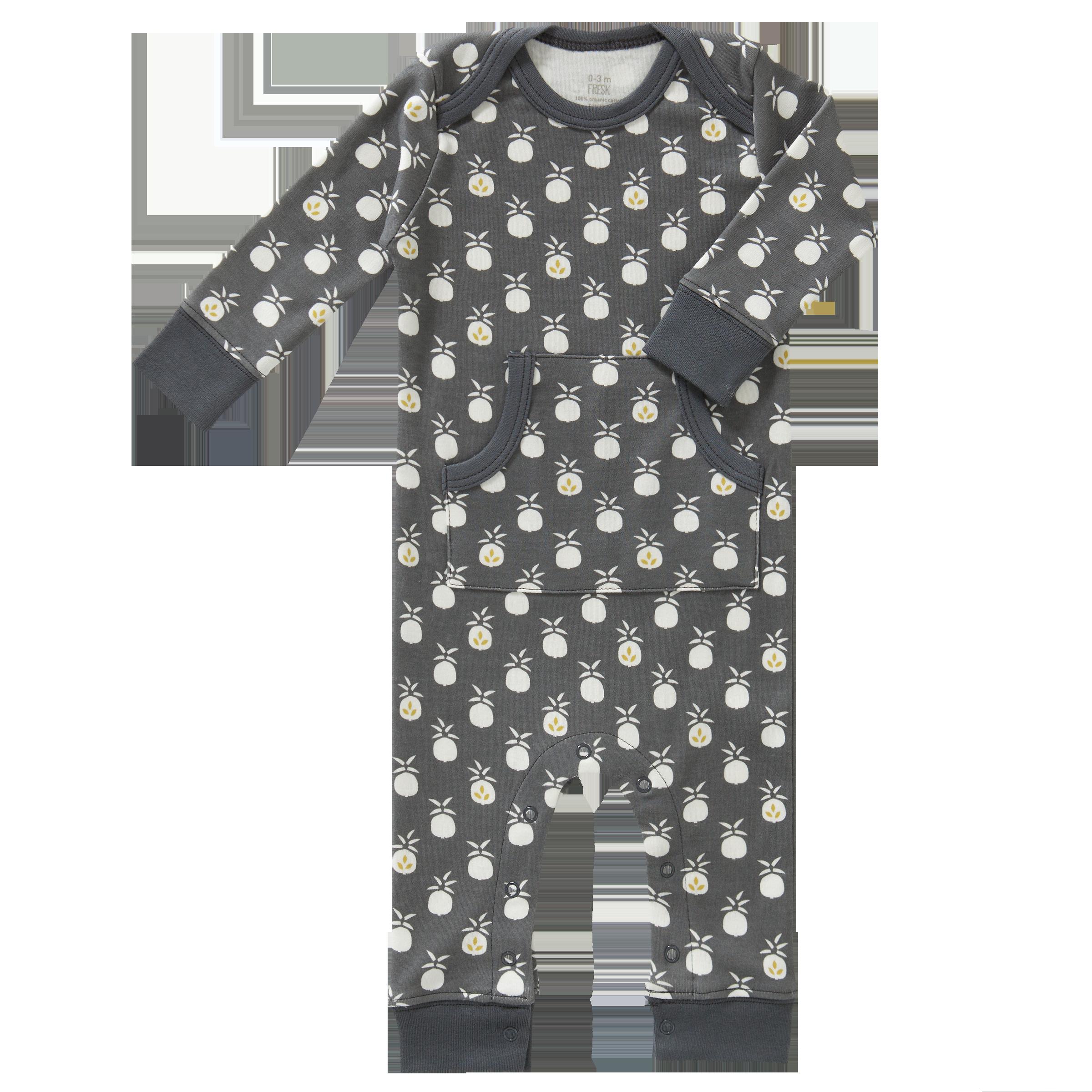 Pyjama - Strampler | Schlafanzug - Pineapple anthrazit - Fresk