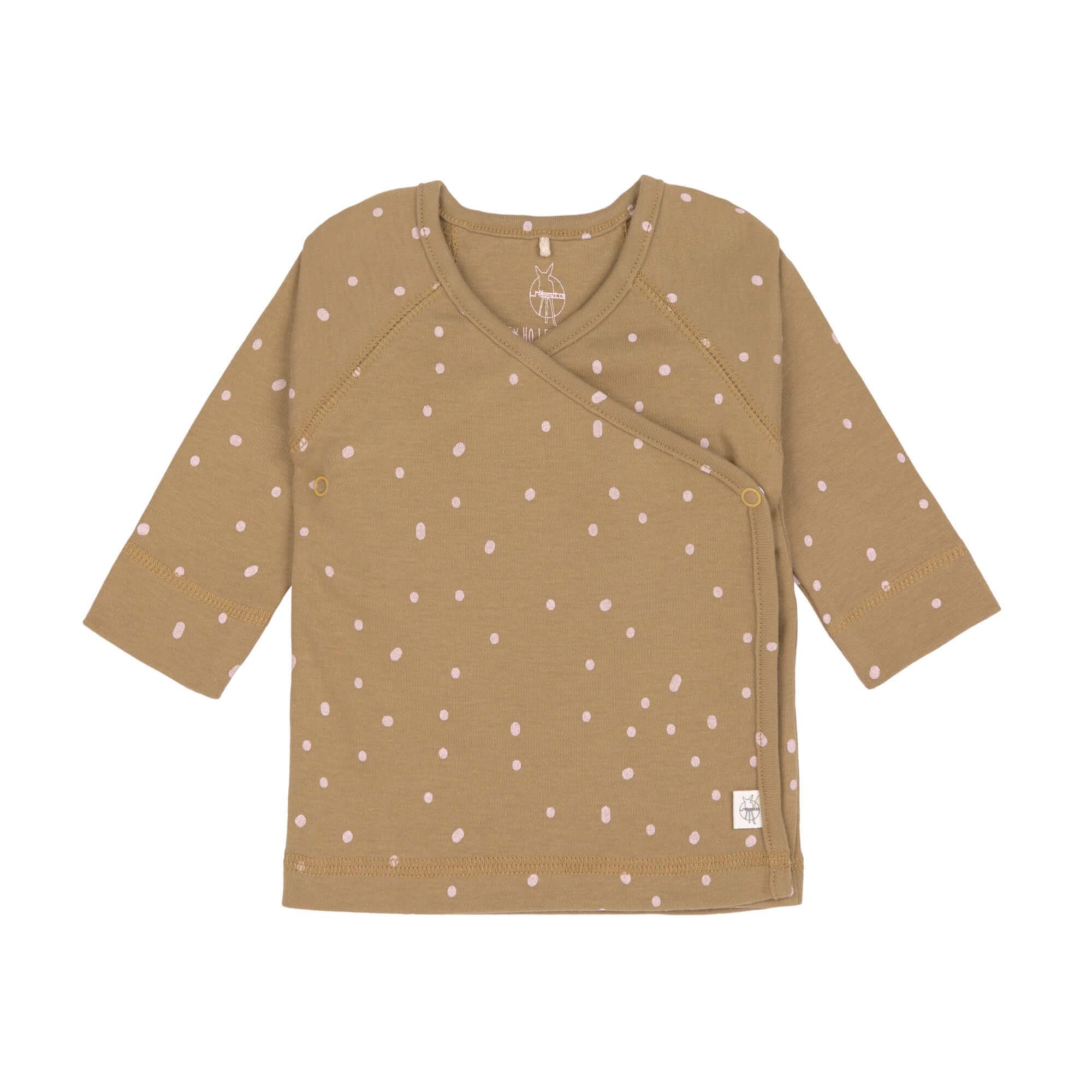 Baby Wickelhemd - Kimono - Dots curry - Lässig
