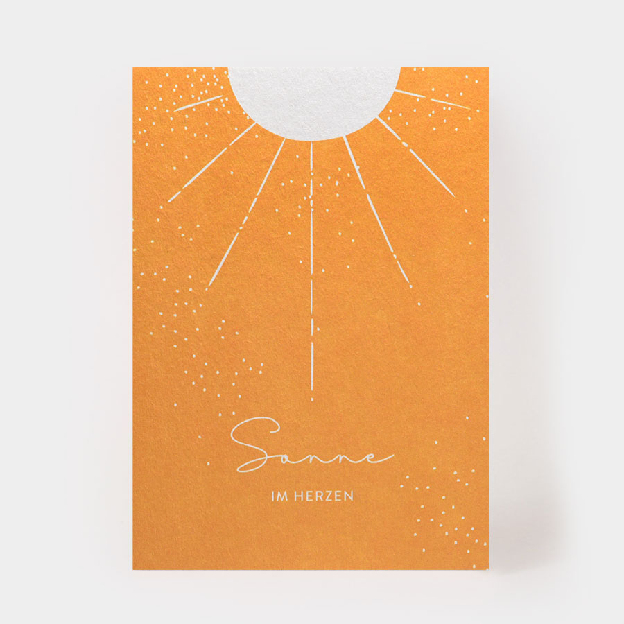 """Postkarte - """"Sonne im Herzen"""" - Kartenmarie"""
