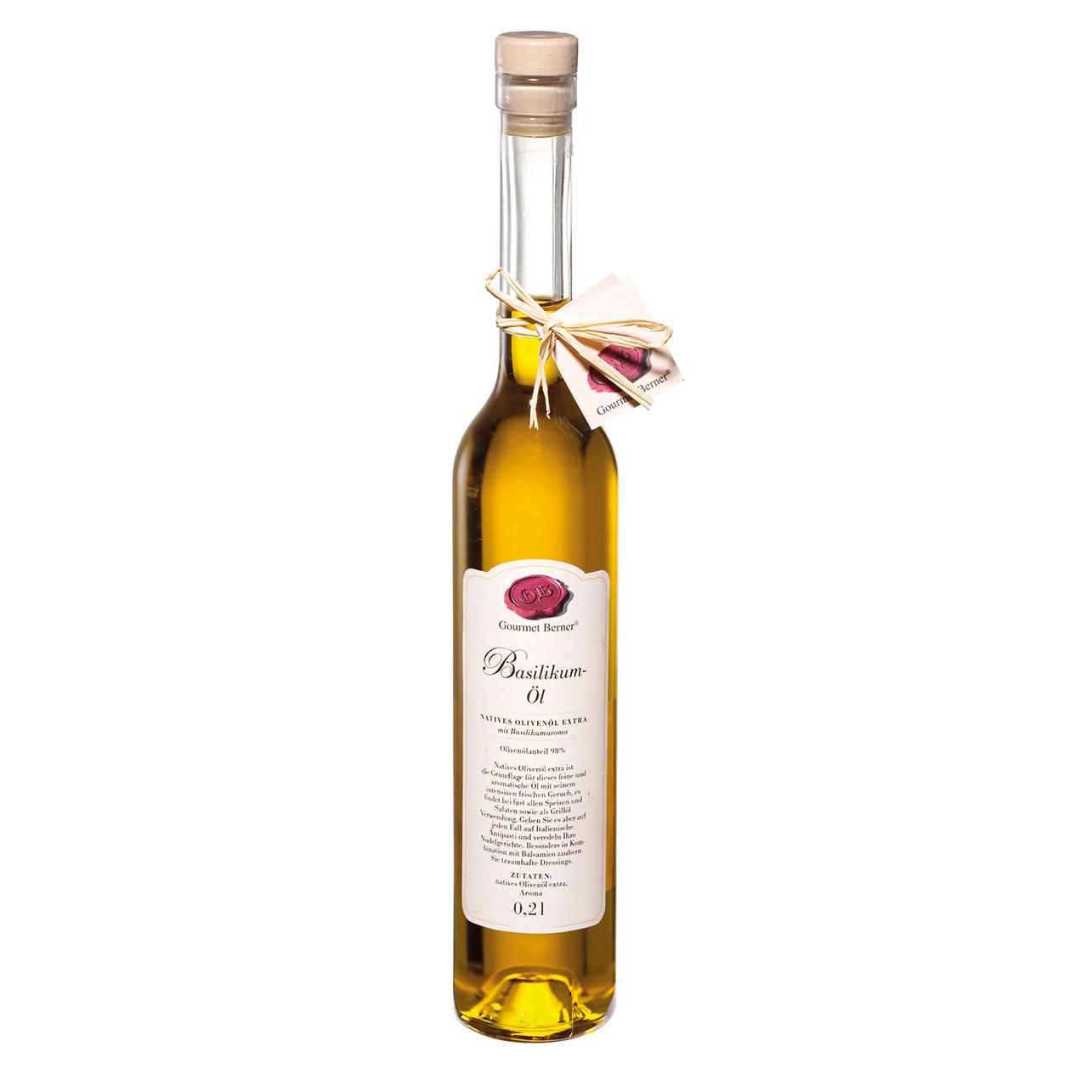 Basilikum-Öl- 0,2l - Gourmet Berner