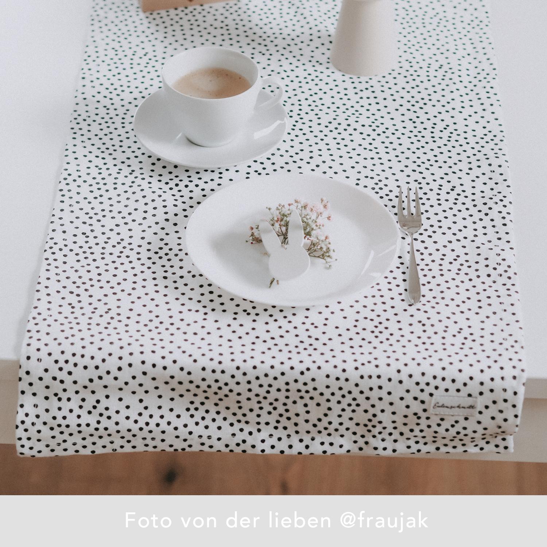 Tischläufer - Punkte 140 x 40 cm - Eulenschnitt