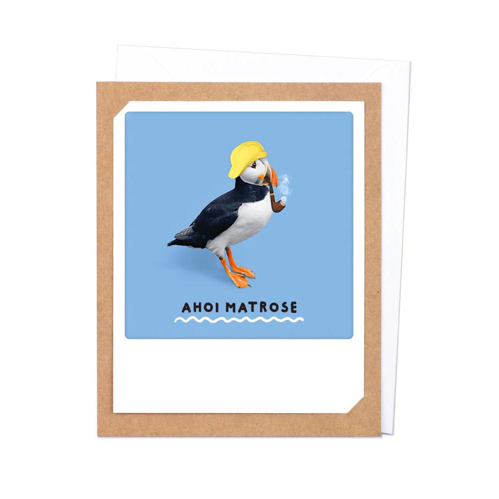 "Photo-Klappkarte ""Ahoi Matrose"" - ZG-0794-DE-KK - Pickmotion"