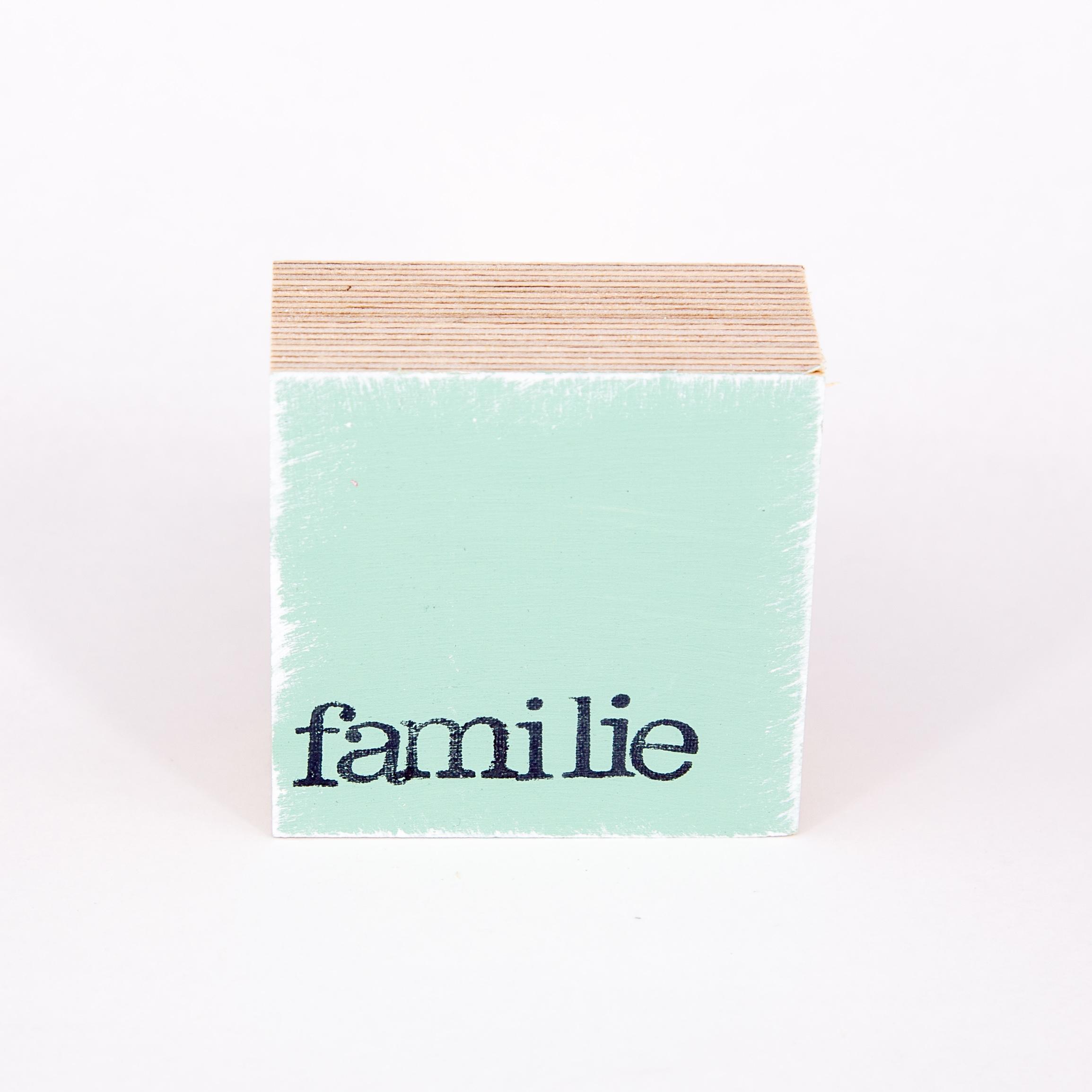 "Mini Textplatte - ""familie"" - iopla"