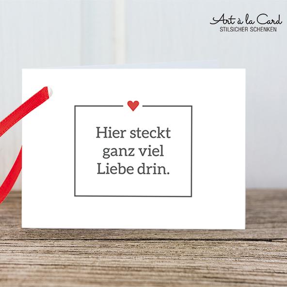 Geschenkanhänger - Hier steckt ganz ... - Geburtstag, Hochzeit, Liebe - Art a la Card