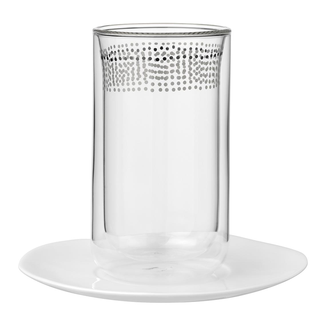 Thermoglas mit Untertasse