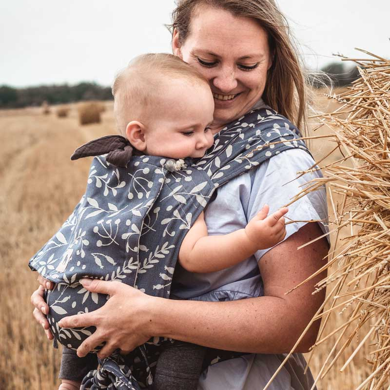 Babytrage - Flora Cool Grey - LIMAS