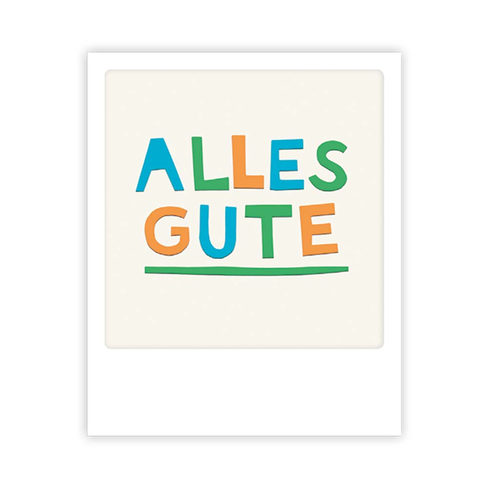 "Kleine-Postkarte ""Alles gute"" - MP 0139 - DE - Pickmotion"