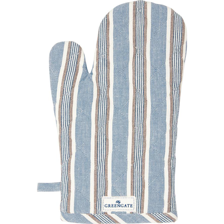 Ofenhandschuh - Ivah stripe blue - Greengate