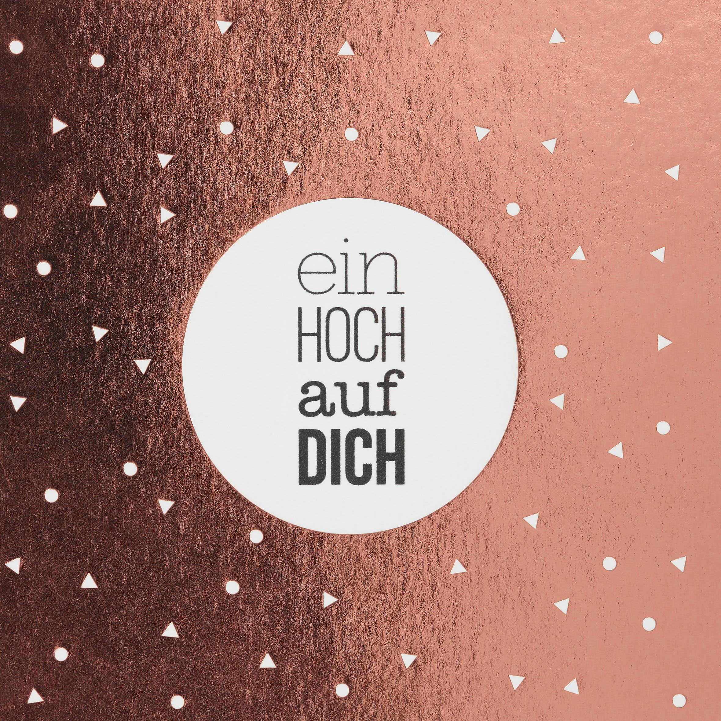 """Happy Day Postkarte """"Ein hoch auf dich"""" - räder"""