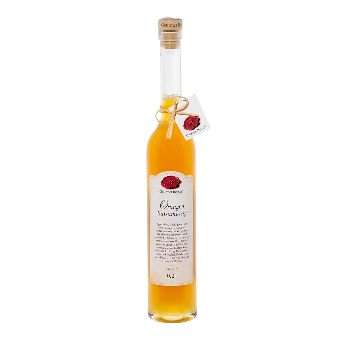 Orangen-Balsamessig - 0,2l - Gourmet Berner