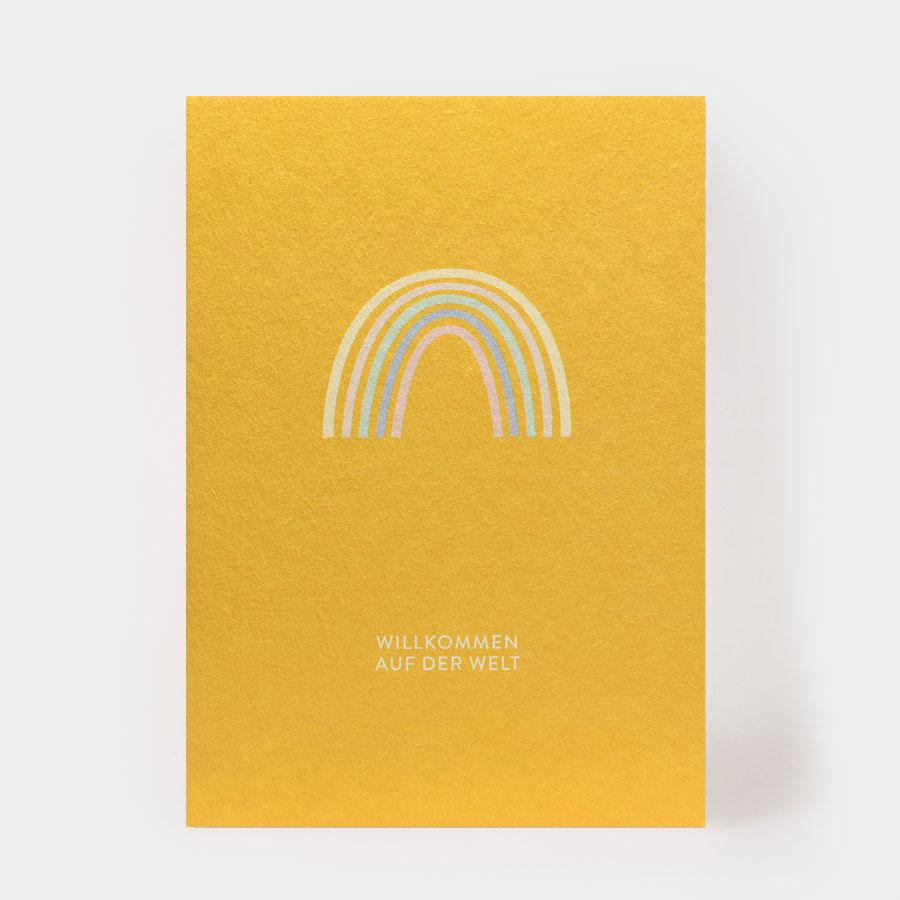 """Postkarte - """"Willkommen auf der Welt"""" - Kartenmarie"""