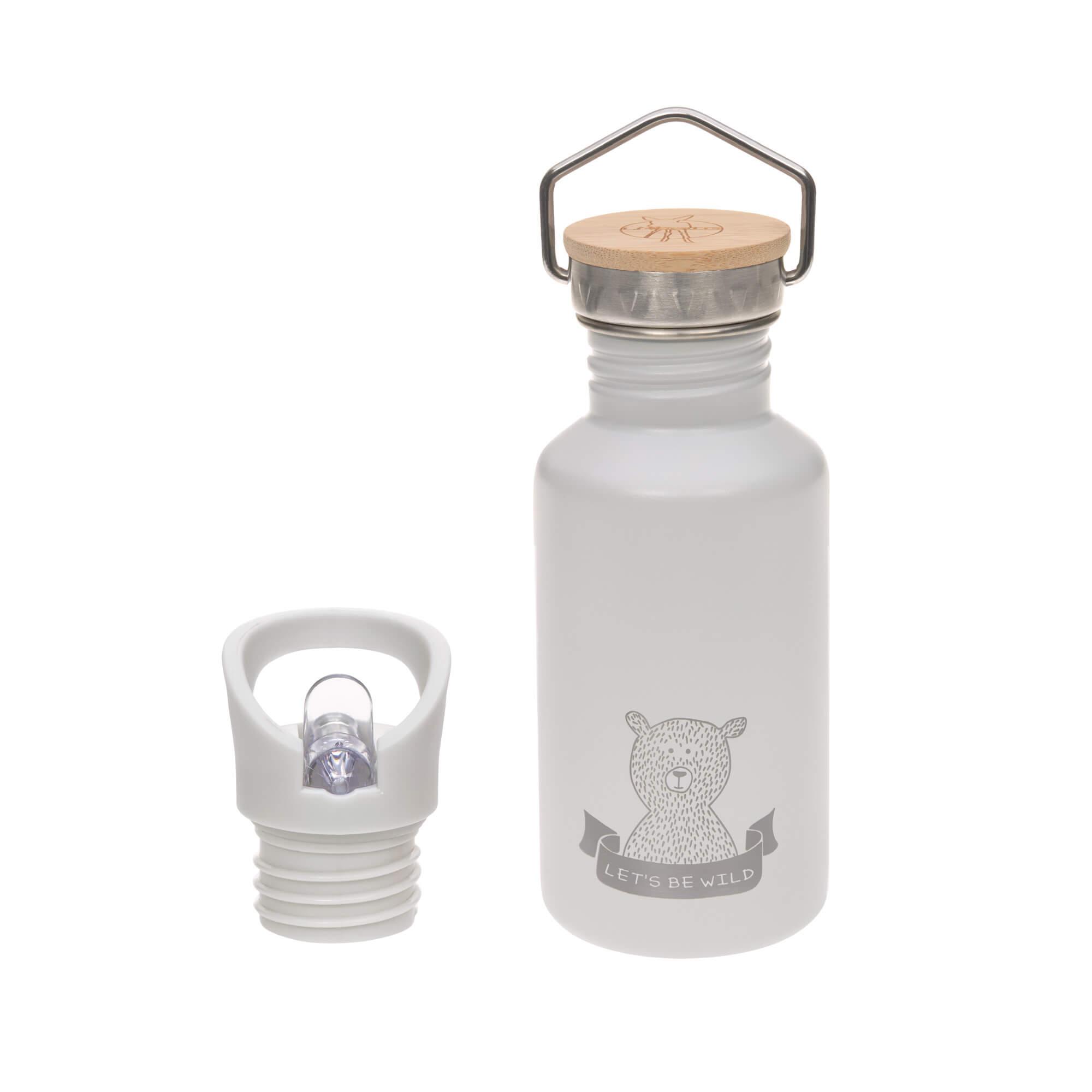 Kinder Trinkflasche Edelstahl (500ml) - Adventure grey - Lässig