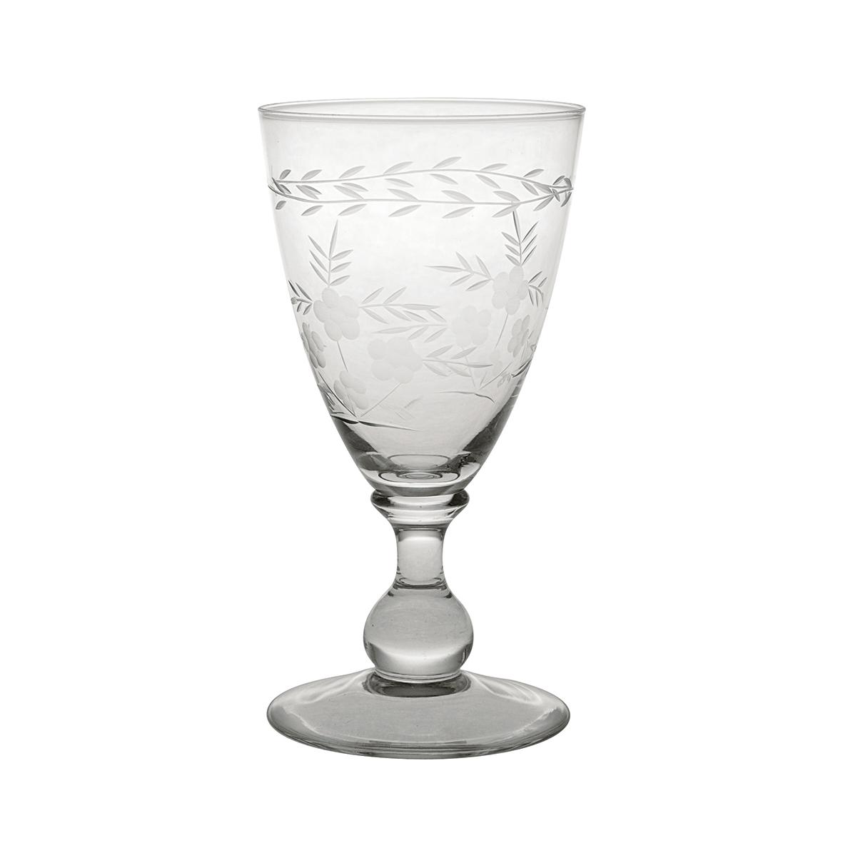 Weinglas mit Gravur / Glasschliff - small - Greengate
