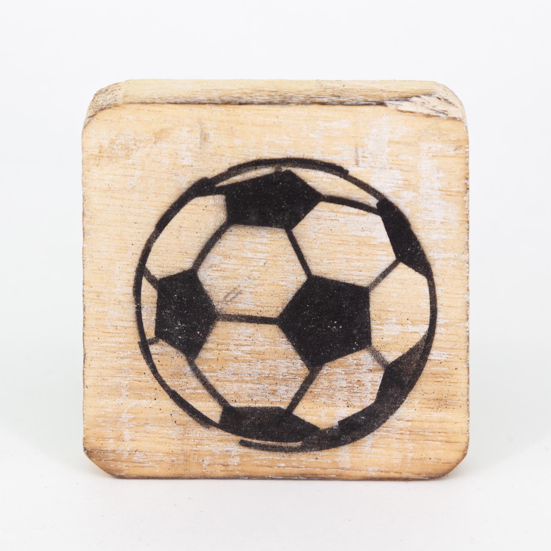 Holzsymbol - Fussball - im Scrabble-Style
