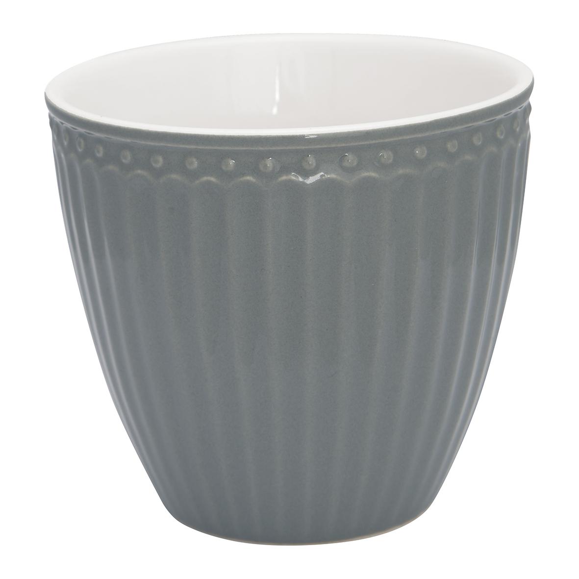 Latte Cup - Alice stone grey - Greengate