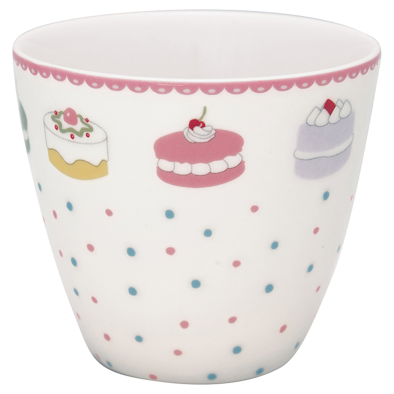 Latte Cup - Madelyn white - Greengate