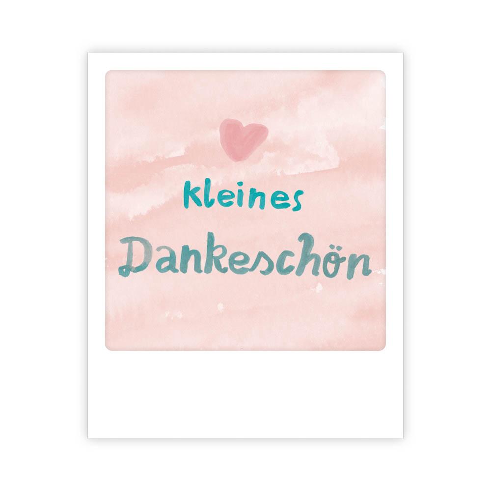 """Kleine-Postkarte """"Dankeschön"""" - MP 0516 - DE - Pickmotion"""