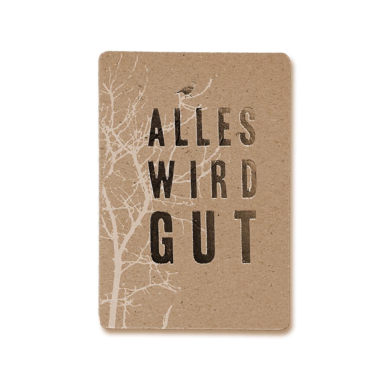 "Postkarte ""Alles wird gut"" - Good old friends"