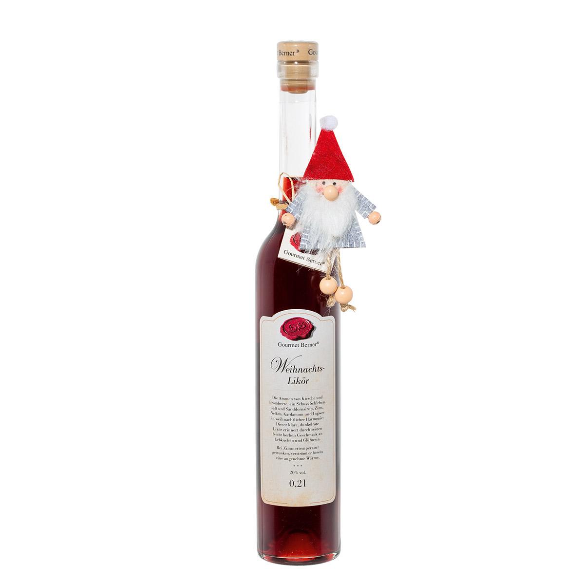 Weihnachtslikör mit Wichtelklammer -  20% vol. - 0,2l - Gourmet Berner (Xmas)