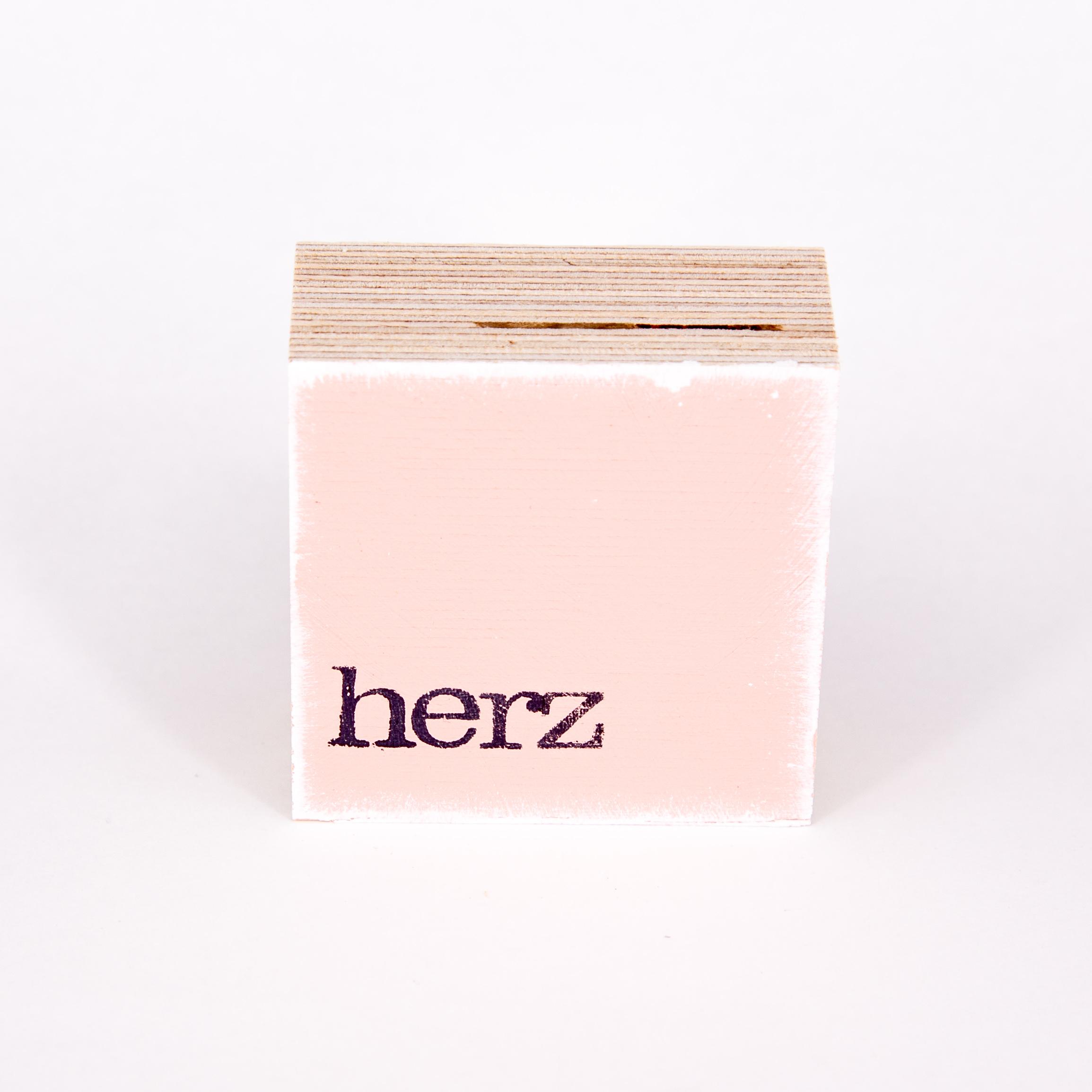 """Mini Textplatte - """"herz"""" - iopla"""