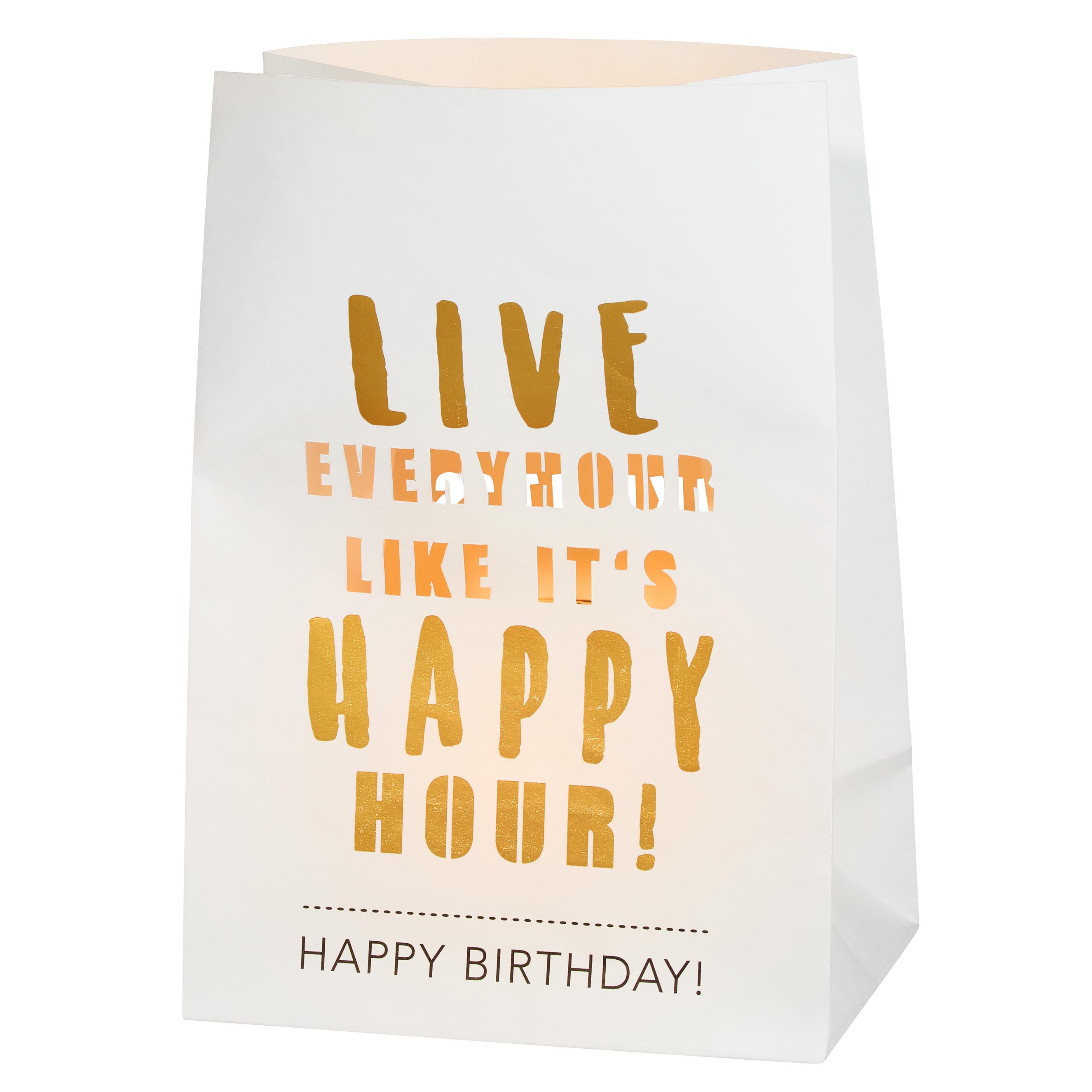 """Lichttüten Karte """"Happy Birthday"""" - räder"""