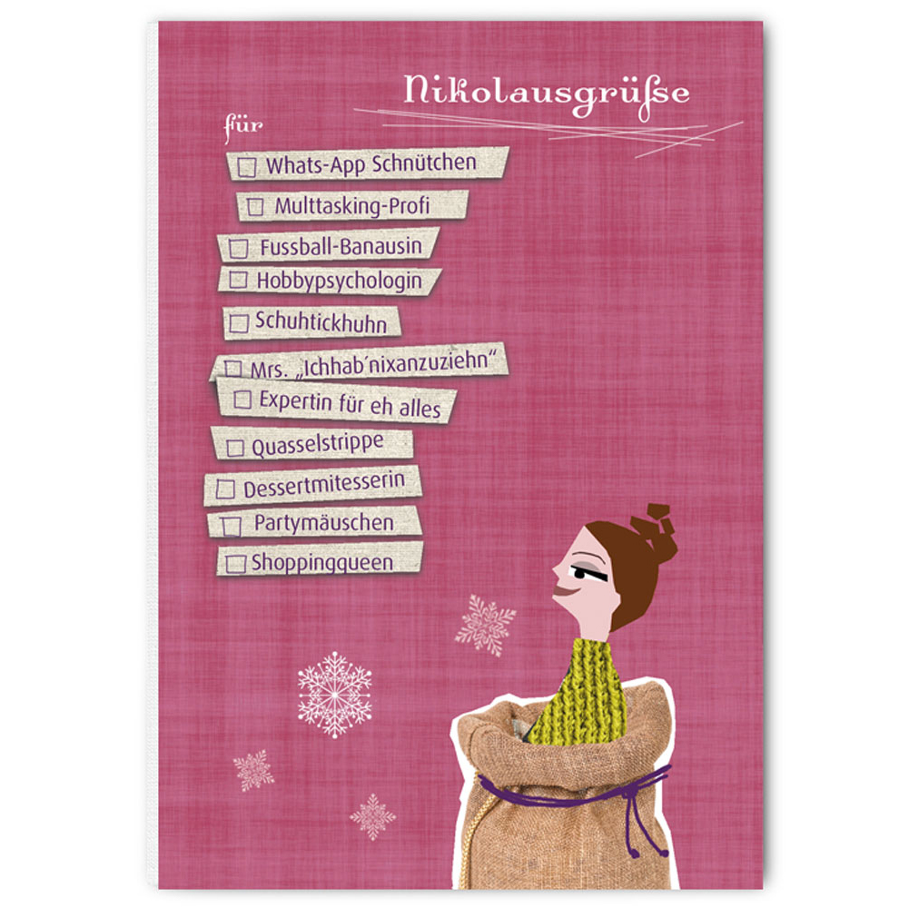 """Weihnachtspostkarte - """"Nikolausgrüße - The Buttique"""