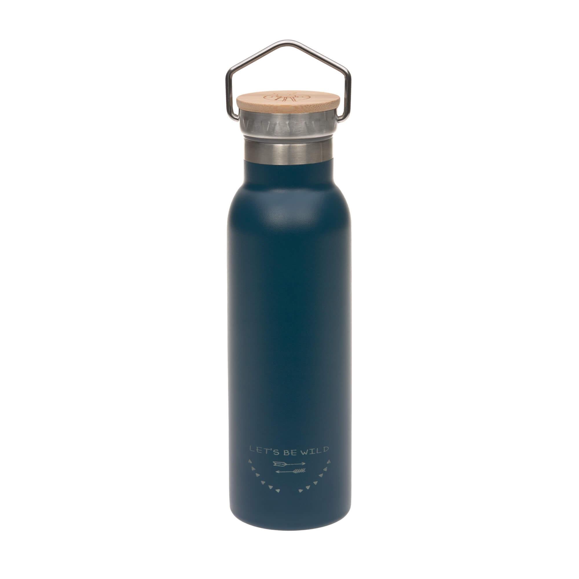 Kinder Trinkflasche Edelstahl (460 ml - isoliert) - Adventure Blue - Lässig