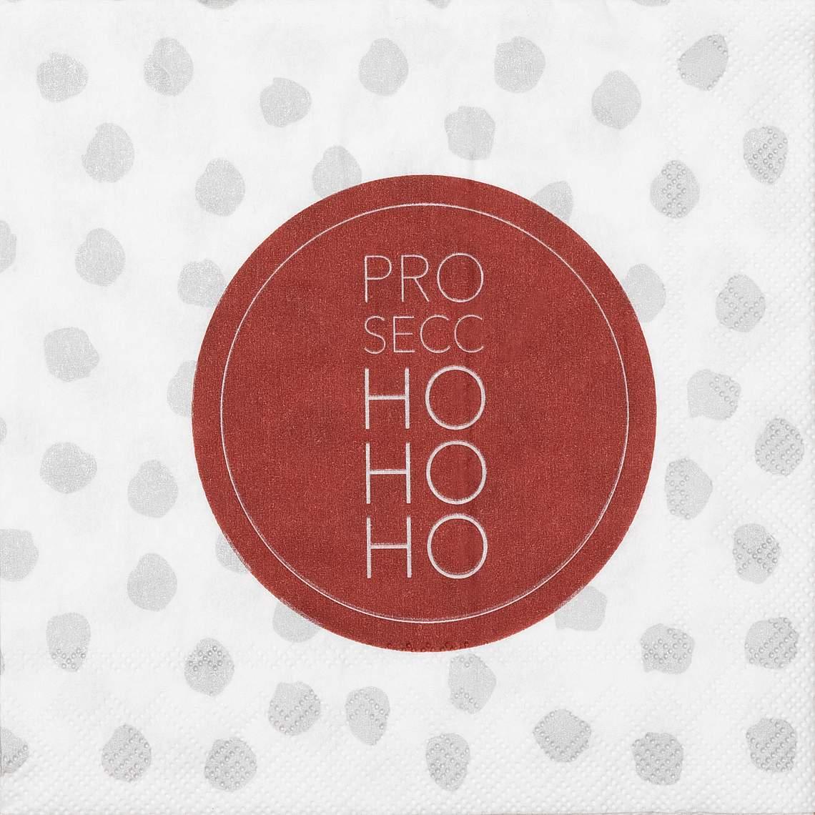 """Cocktailservietten """"Prosecco Ho Ho Ho"""" - räder (Xmas)"""