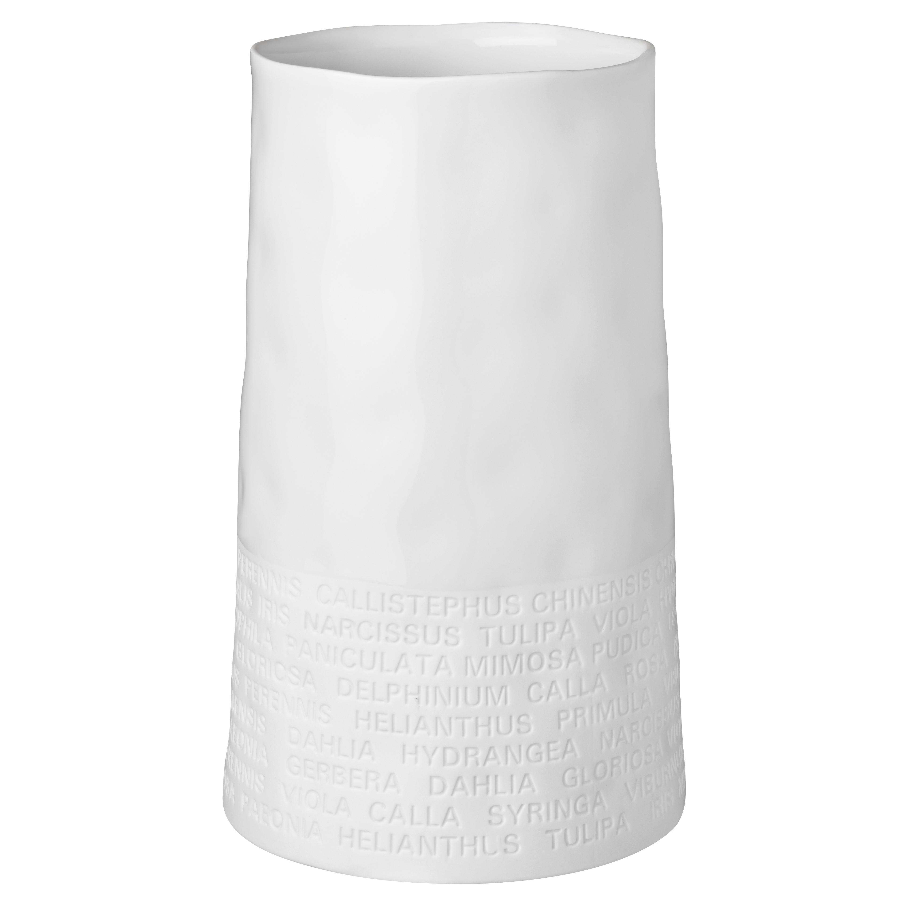 """Breite Vase """"Text zu Blumen"""" - räder"""