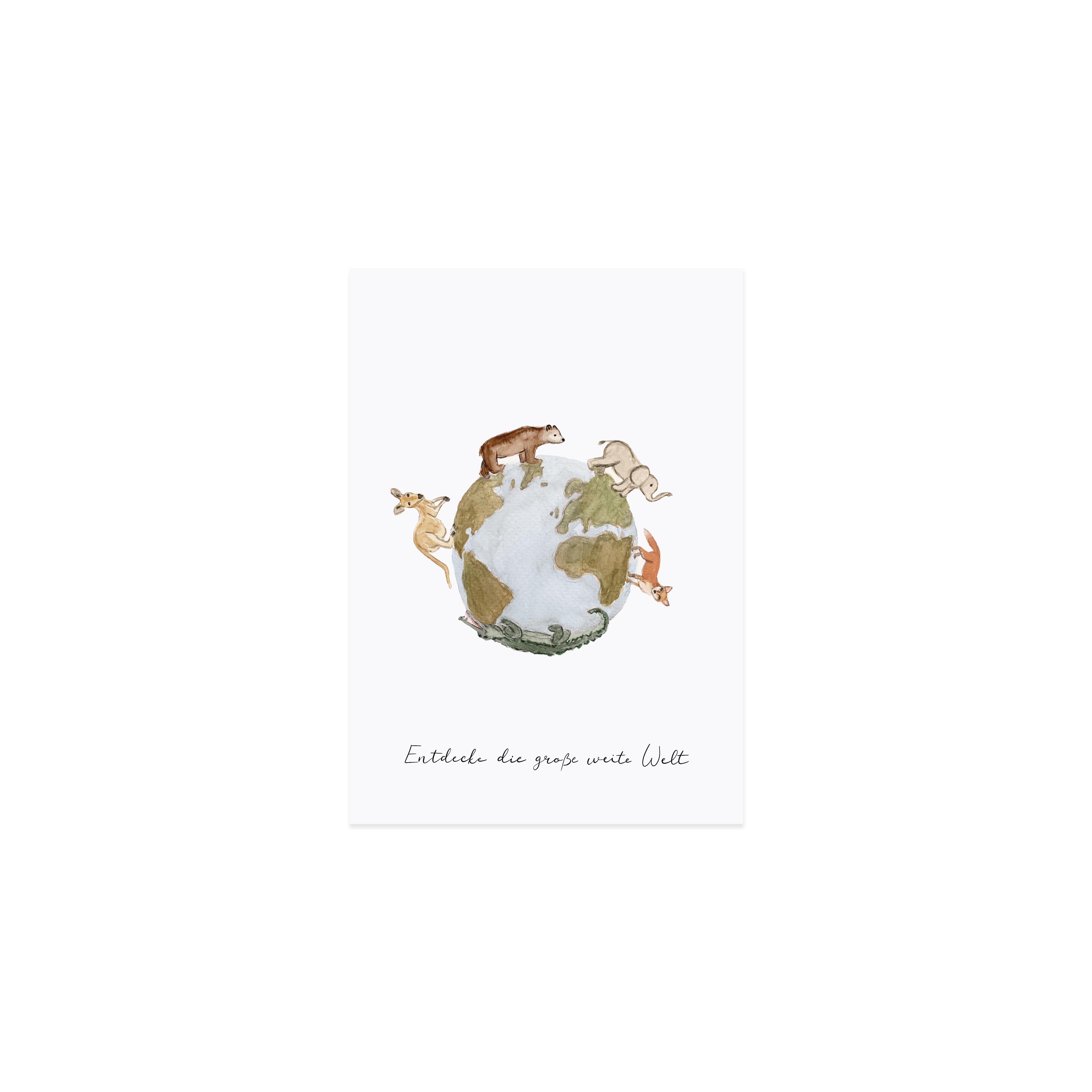 Postkarte - Weltentdecker - Eulenschnitt