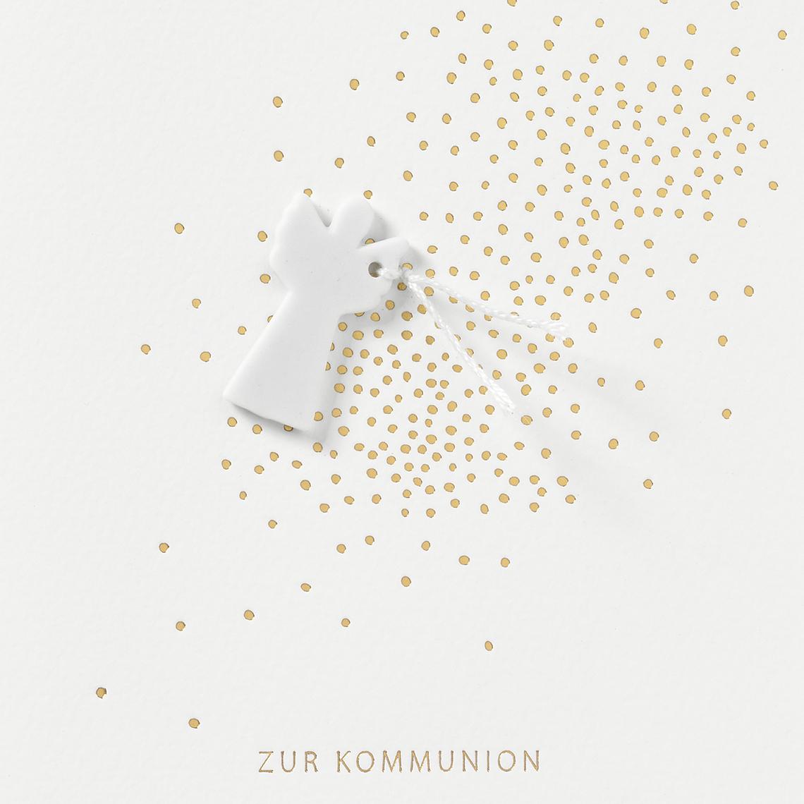 """Kommunionskarte """"Engelanhänger"""" - räder"""