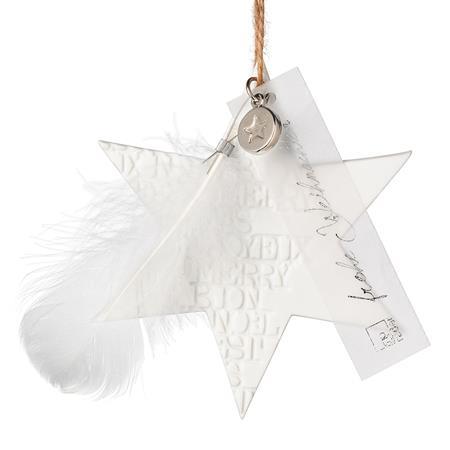 """Porzellanstern klein """"Make a wish"""" - räder (Xmas)"""