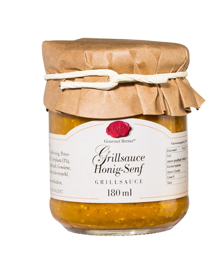 Grillsauce - Honig Senf - 180ml Glas - Gourmet Berner