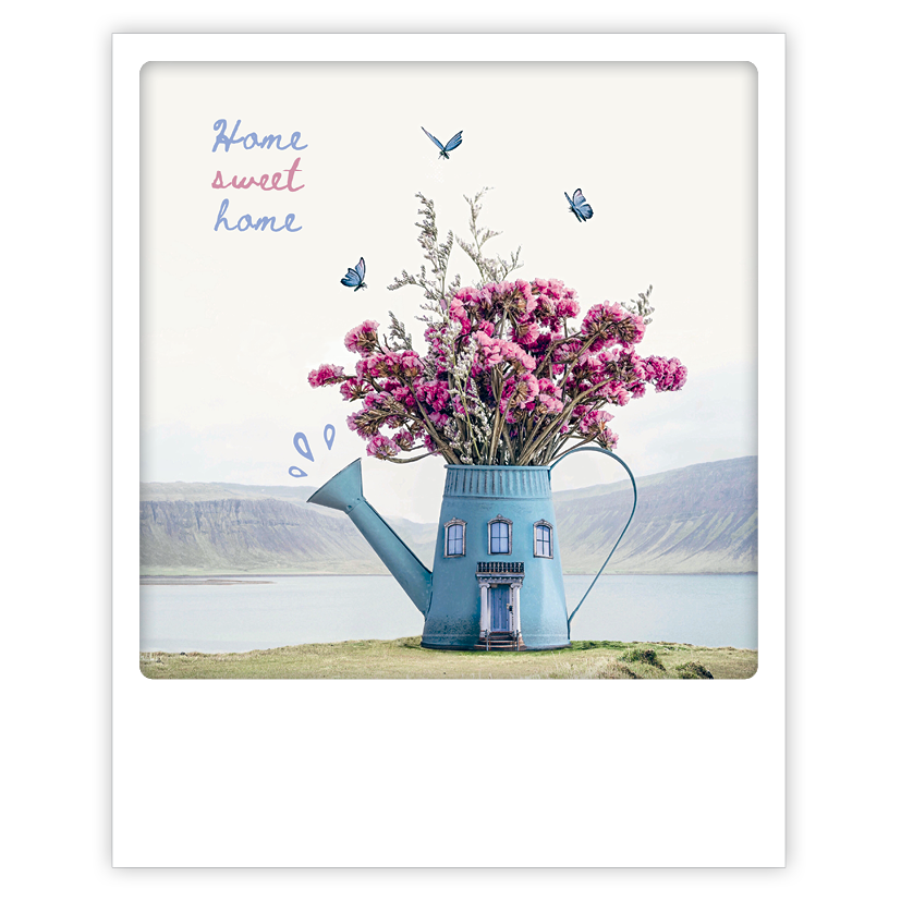 "Photo-Postkarte ""Home sweet home"" - ZG 0893 - DE - Pickmotion"