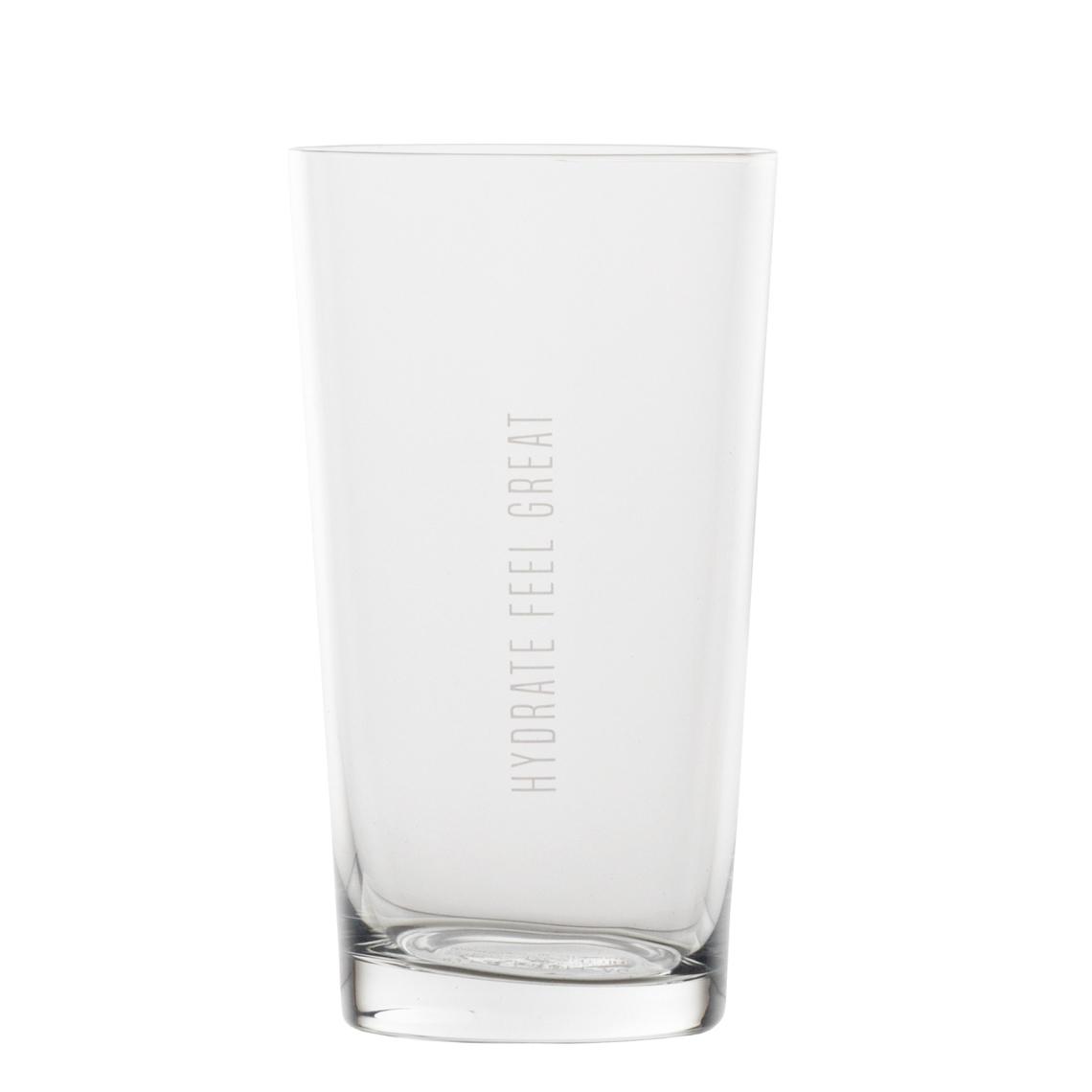 "Wasserglas - ""Hydrate feel great"" - räder"