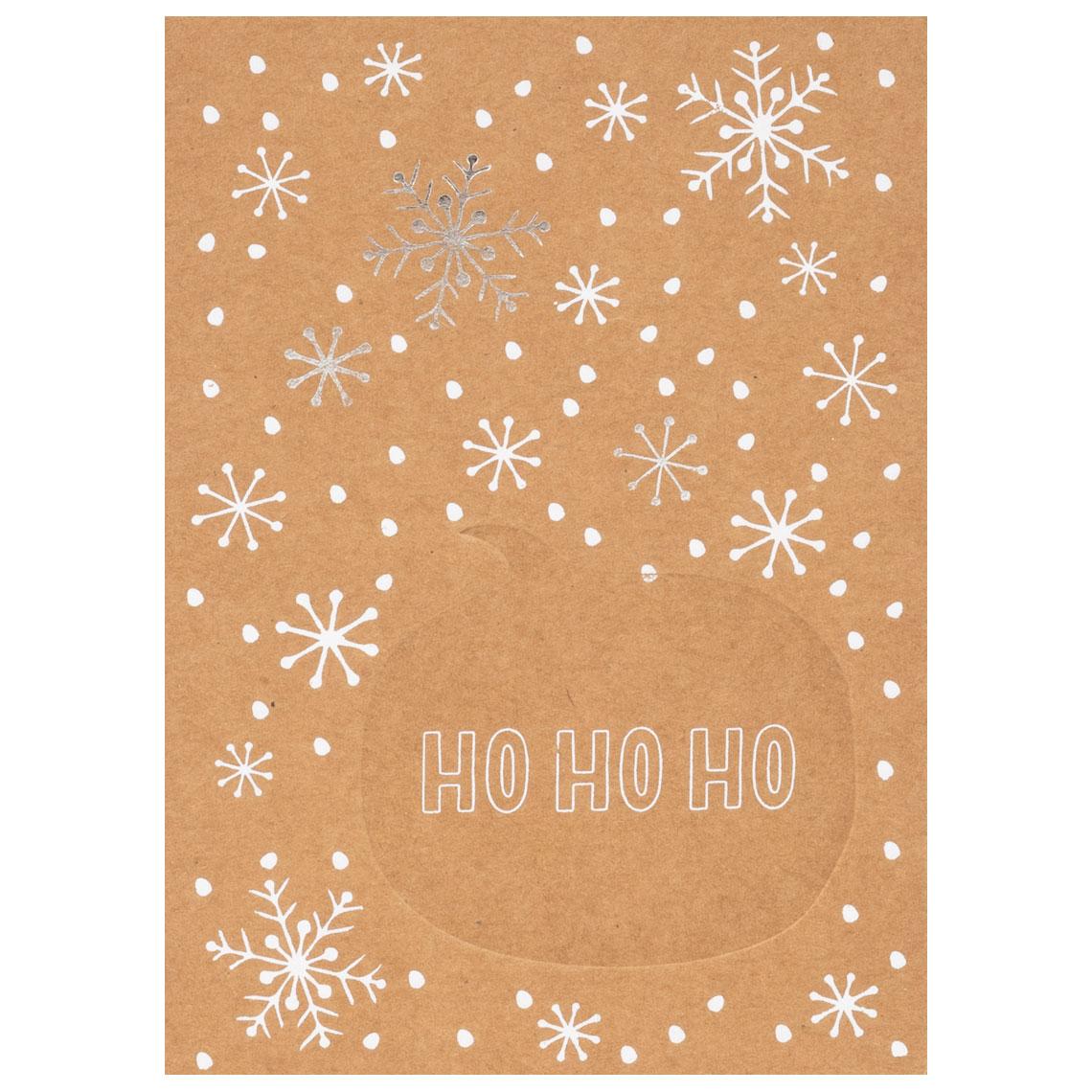 """Sprechblasenpostkarte """"Ho Ho Ho"""" - räder (Xmas)"""