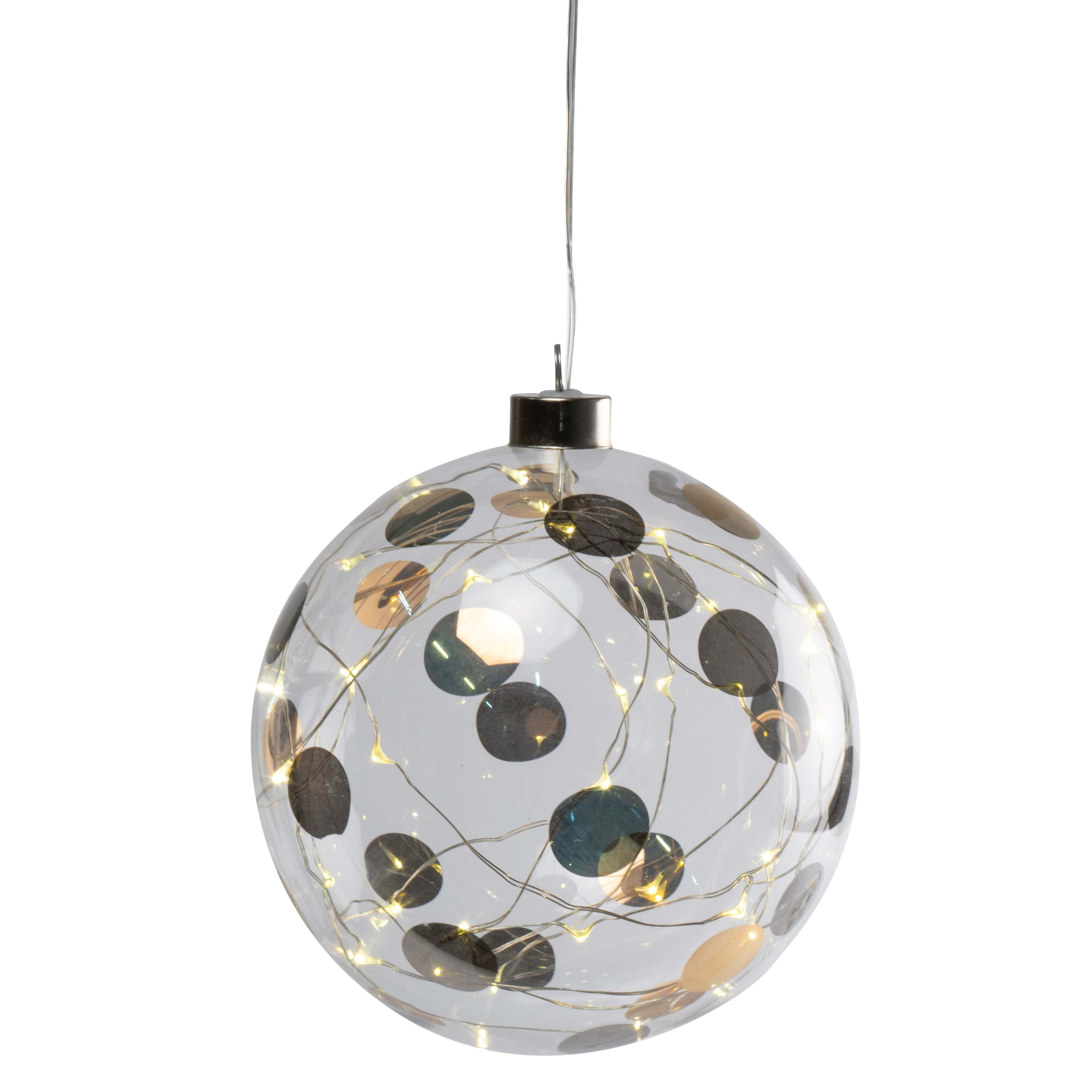"LED Lichtkugel - ""groß, Punkte"" - räder (Xmas)"
