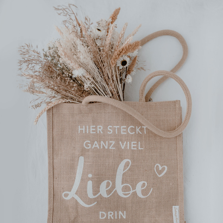 Jute Shopper Liebe - Eulenschnitt