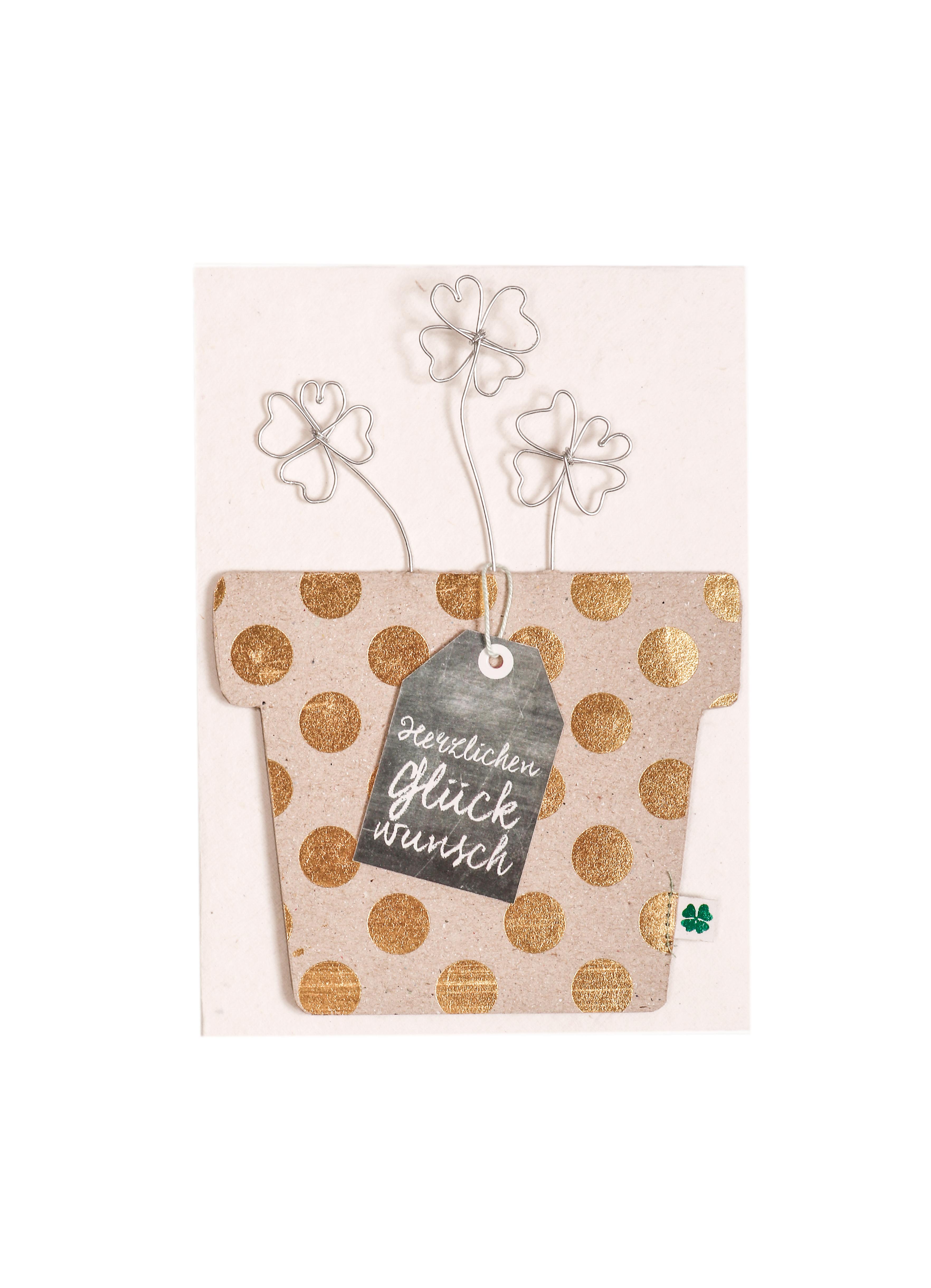 Blumentopf Karte - Herzlichen Glückwunsch - Good old friends