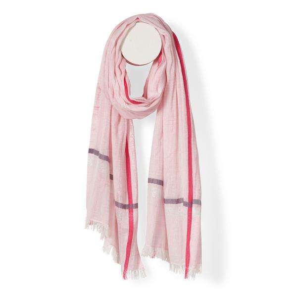 Halstuch | Schal - mit Bordüre - pink - Yam Yam Fashion